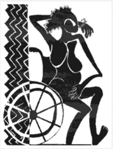 Magazine illustration: woman in a wheelchair